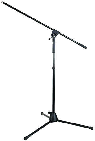 K&M KM-254 Tripod Microphone Stand with Boom - Black