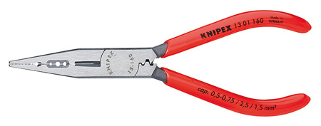 Knipex 13 01 160 Electrician Pliers - Head Polished - Plastic Coated Handles