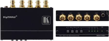 Kramer Tools 6241HDXL 4x1 3G/HD-SDI Switcher
