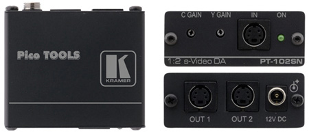 Kramer PT-102SN Pico Tool 1x2 S-Video Distribution Amplifier
