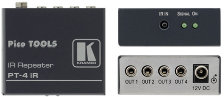 Kramer PT-4iREX Infra-Red Repeater for up to 8 IR devices