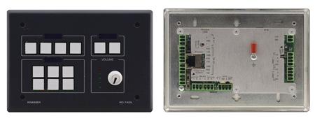 Kramer RC-74DL 12-Button Master Room Controller with Digital Volume Knob - Black