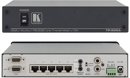 Kramer TP-205A Twisted Pair Transmitter and Distribution Amplifier