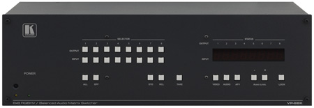 Kramer VP-88K 8x8 RGBHV & Balanced Stereo Audio Matrix Switcher