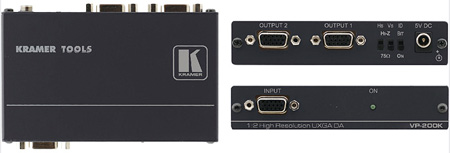 Kramer VP-200K 1x2 Computer Graphics Video Distribution Amplifier