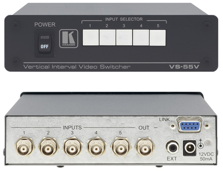 Kramer VS-55V 5x1 Composite Video Switcher