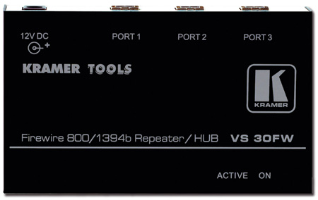 Kramer VS-30FW 3-Port FireWire 800 Repeater Hub