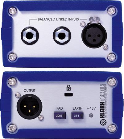 Klark Teknik DN100 Direct Injection Box with Balanced I/O