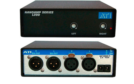 ATI L200 Dual Line Amplifier with Active Balanced Output