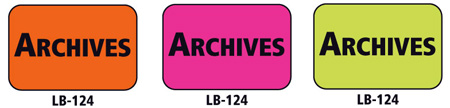1x1.5 Warning Label 200 Pk Hot Pink (Archives)