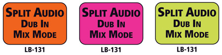 1x1.5 Warning Label 1000 Pk Hot Pink (Split Audio Dub In Mix Mode)