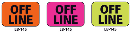 1x1.5 Warning Label 200 Pk Hot Pink (Off Line)