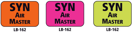 1x1.5 Warning Label 200 Pk Lime Green (SYN Air Master)