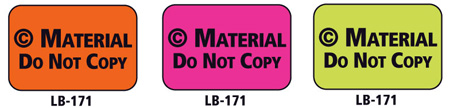 1x1.5 Warning Label 200 Pk Lime Green (Copyrighted Material)