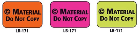 1x1.5 Warning Label 200 Pk Orange (Copyrighted Material)