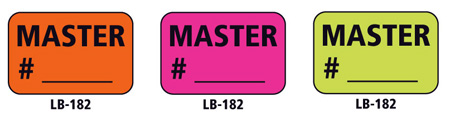 1x1.5 Warning Label 200 Pk Hot Pink (Master #)