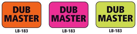 1x1.5 Warning Label 500 Pk Hot Pink (Dub Master)