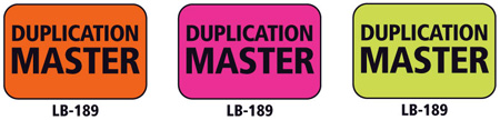 1x1.5 Warning Label 200 Pk Hot Pink (Duplication Master)