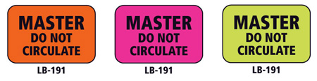 1x1.5 Warning Label 1000 Pk Orange (Master Do Not Circulate)