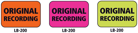 1x1.5 Warning Label 1000 Pk Orange (Original Recording)