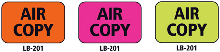 1x1.5 Warning Label 500 Pk Lime Green (Air Copy)