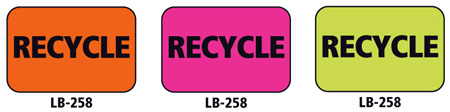 1x1.5 Warning Label 500 Pk Orange (Recycle)