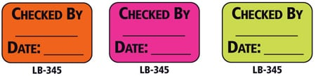 1x1.5 Warning Label 500 Pk Hot Pink (Checked By)