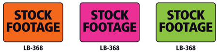 1x1.5 Warning Label 1000 Pk Hot Pink (Stock Footage)