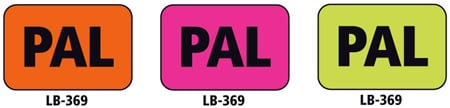 1x1.5 Warning Label 1000 Pk Lime Green (PAL)