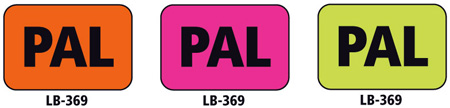 1x1.5 Warning Label 200 Pk Hot Pink (PAL)