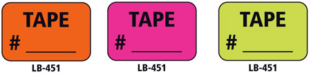 1x1.5 Warning Label 500 Pk Hot Pink (Tape #)