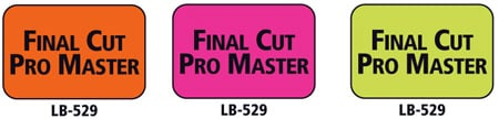 1x1.5 Warning Label 500 Pk Orange (Final Cut Pro Master)