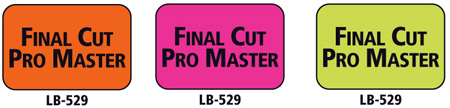 1x1.5 Warning Label 200 Pk Lime Green (Final Cut Pro Master)