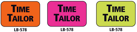 1x1.5 Warning Label 500 Pk Hot Pink (Time Tailor)