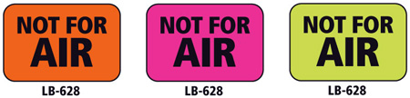 1x1.5 Warning Label 200 Pk Hot Pink (Not For Air)