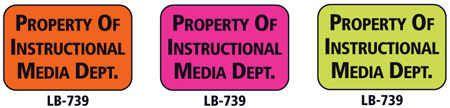 1x1.5 Warning Label 1000 Pk Hot Pink (Prop of Instructional Media)