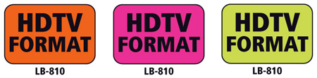 1x1.5 Warning Label 500 Pk Orange (HDTV Format)