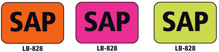 1x1.5 Warning Label 1000 Pk Hot Pink (SAP)