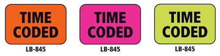 1x1.5 Warning Label 500 Pk Hot Pink (Time Coded)