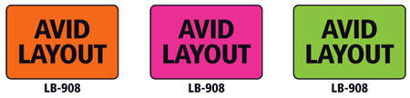 1x1.5 Warning Label 500 Pk Lime Green (Avid Layout)
