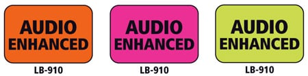 1x1.5 Warning Label 500 Pk Lime Green (Audio Enhanced)