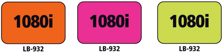 1x1.5 Warning Label 500 Pk Hot Pink (1080i)