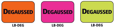 1x1.5 Warning Label 500 Pk Hot Pink (Degaussed)