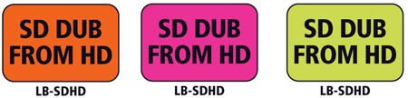 1x1.5 Warning Label 200 Pk Hot Pink (SD Dub From HD)