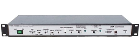 Link Electronics PDR-870 Closed Caption Decoder & Data Recovery Decoder RS-232