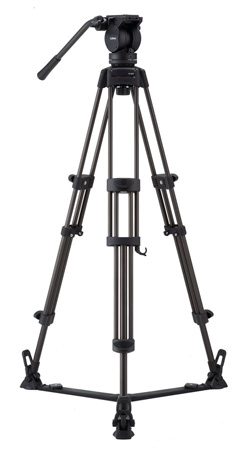 Libec LX5 Professional 2-Stage Aluminum Tripod System w/ Floor Level Spreader