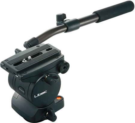 Libec RH25R Professional Fluid Head with Pan Handle