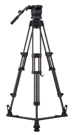 Libec RS-250R Professional 2-Stage Aluminum Tripod System w/ Floor Level Spreader