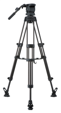 Libec RS-250RM Professional 2-Stage Aluminum Tripod System w/ Mid Level Spreader