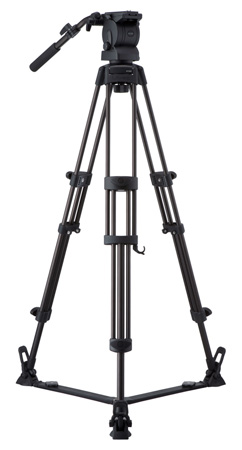 Libec RS-350R Professional 2-Stage Aluminum Tripod System w/ Floor Level Spreader